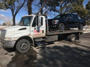 towing black truck colorado springs